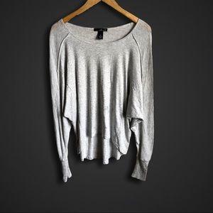 Dolman sleeve gray long sleeve T-shirt